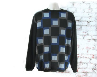 Mod Sweater,  guys sweater, Vintage Sweater, Men's Clothing, Preppy sweater Size X Large  # 23