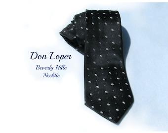 Men's accessories , necktie men's - Black tie -  suit tie, designer tie,  gift for men, Don Loper necktie -   # T 63