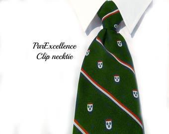 men's green clip on tie -Clip on tie - green tie - Polyester tie - men's accessories - Clip tie, 70's tie - suit tie - # T 33