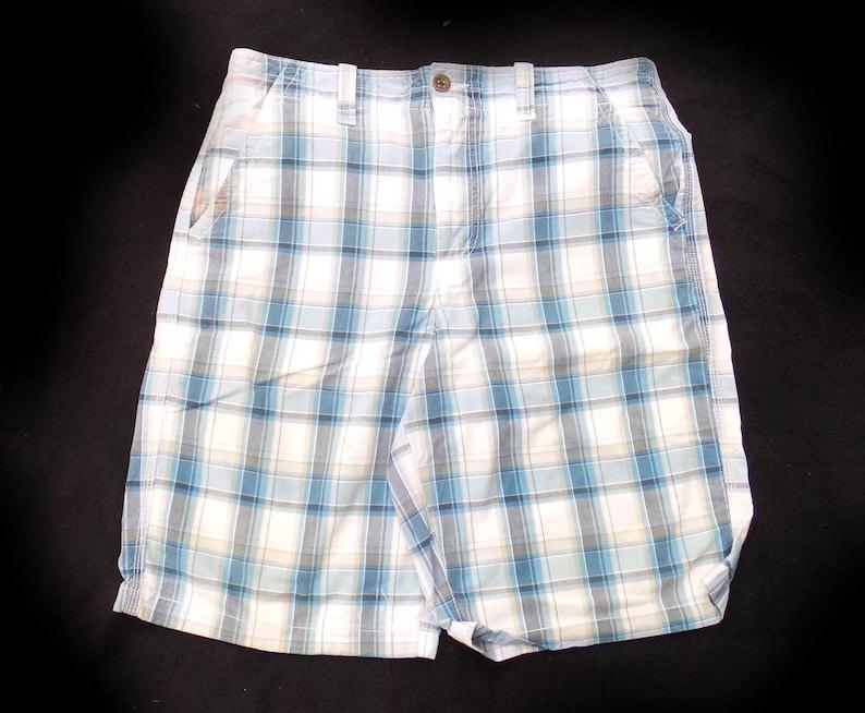ffea7a3db6 Men s blue white plaid shorts Men s Bermuda Shorts