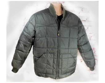 men's Thermal Insulated coat - down feather coat - men's green winter coat  - zipper coat men - Men's outer wear -heavy winter coat men  # 7