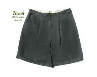 men's dress shorts,pleated front  shorts, golf shorts, green shorts,90's shorts, size -36 shorts,   # 31