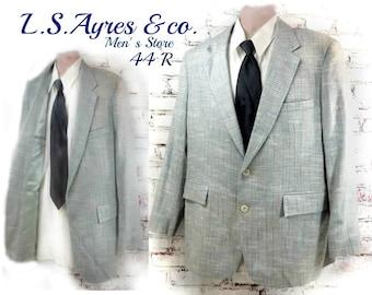 Spring sport coat , men's dress jacket - men's suit jacket - men's jacket blazer - 2 button sport coat - size 44 R   # 230