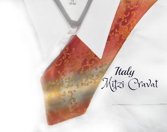 vintage men's necktie,  men's Spring tie - Italy tie -  men's accessories - men's designer tie, suit necktie, gift for him, # T 56