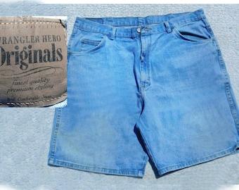 denim jeans shorts men - men's jean shorts, denim shorts men - blue jean shorts, 90's shorts, size 40 shorts, # 268