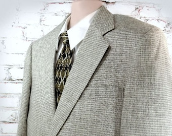 men's light weight blazer - men's Spring sport coat  - tan sport coat  - men's tailored blazer - size 44 R # 88