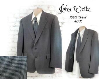 wool sport coat ,  men's wool blazer ,men's Business clothing , men's sports jacket, men's blazer, men's hounds tooth coat,  # 217