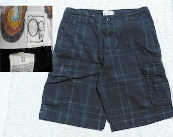 men's plaid summer shorts -men's cargo shorts -Vintage OP shorts men - plaid shorts men , men's  preppy shorts, size 32 shorts men , # 23