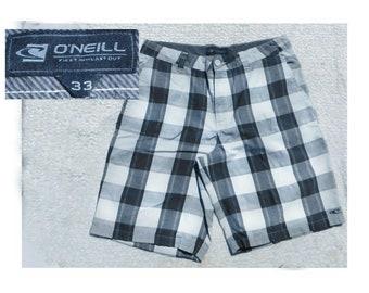 men's summer shorts -casual shorts men - plaid shorts men , men's beach shorts, men's preppy shorts, size 33 shorts men , # 19