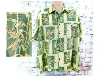 Hawaiian shirt men - men's Aloha shirt - luau party clothing - Tropical party shirt -Summer party shirt - Luau shirt -  Size XL  # 1