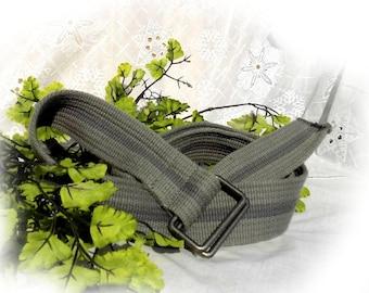 Grey D ring belt, wide  D ring belt -canvas belt - unisex belt -wide belt, grey belt, size up to 36 inch ,  # B 21