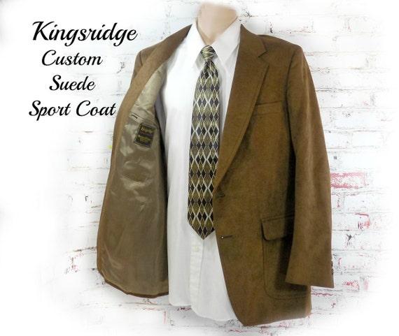 men's suede Sport coat, men's brown blazer, men's