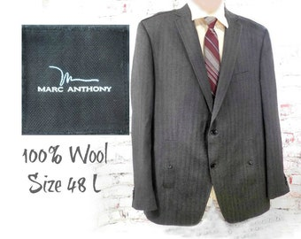 wool tailored sport coat - men's wool blazer, men's office attire , men's sports jacket, men's blazer, wool sport coat ,size 48 L  # 181
