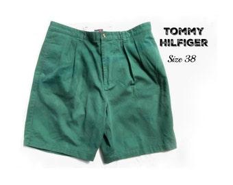 men's jean shorts, denim shorts, green shorts, casual shorts, 90's shorts, size 38 shorts,   # 30