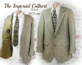 wool Sport coat, men's tan blazer, men's sports jacket, men's blazer, Tan wool sport coat , size  42 Long# 239