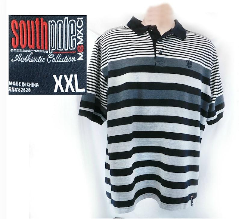 66e89e902c Stripped Polo shirt men vintage men's short sleeve knit | Etsy