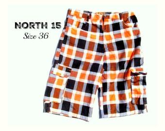 Cargo shorts ,men's long shorts, casual shorts, men's check shorts, Size 36,    # 4