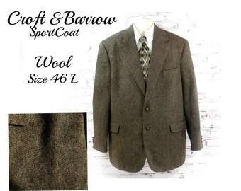 men's wool Sport coat, men's brown blazer, men's sports jacket, men's blazer, brown wool sport coat , # 194
