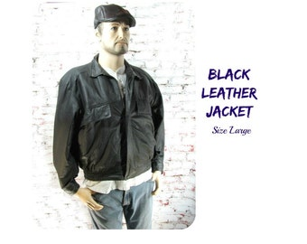Men's leather coat, leather coat, black leather jacket,, men's jacket, men's outer wear,  # 210