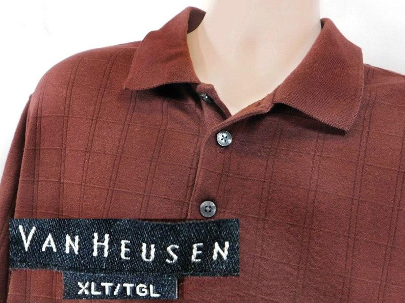 3c2dac6f5 Vintage men s long sleeve knit shirt collared knit shirt