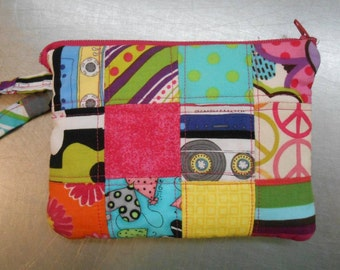Patchwork Wristlet (Camera/Phone pouch)