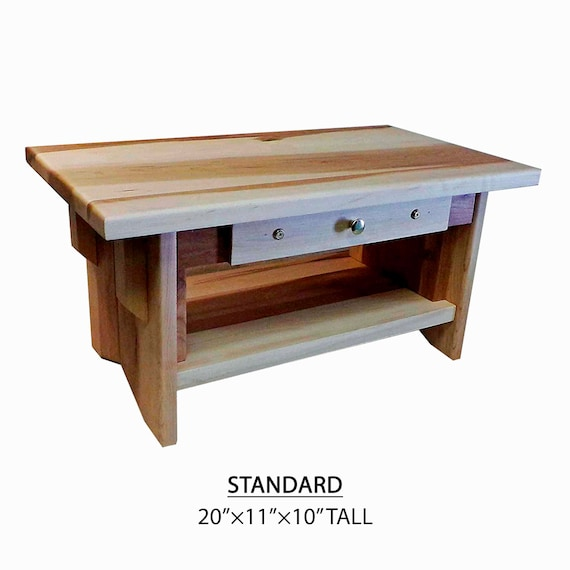 MAINE COASTAL MAPLE ~ EarthBench Personal Shrine Table Standard Sized Personal Low Altar 5 inches tall ~ 20 by 11