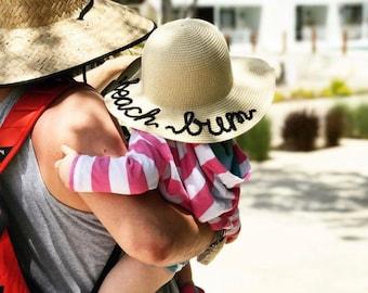 Baby   Toddler   Girl    Custom   Personalized Kids Sequin Floppy Straw Sun  Hat    Beach Hat    Vacation    Girl Birthday Gift edee4ec48dd