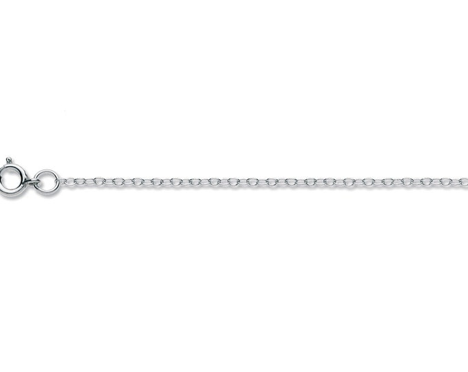 "Sterling Silver trace chain for Argent Aqua pendants, 18""/45cm, 1.55g"