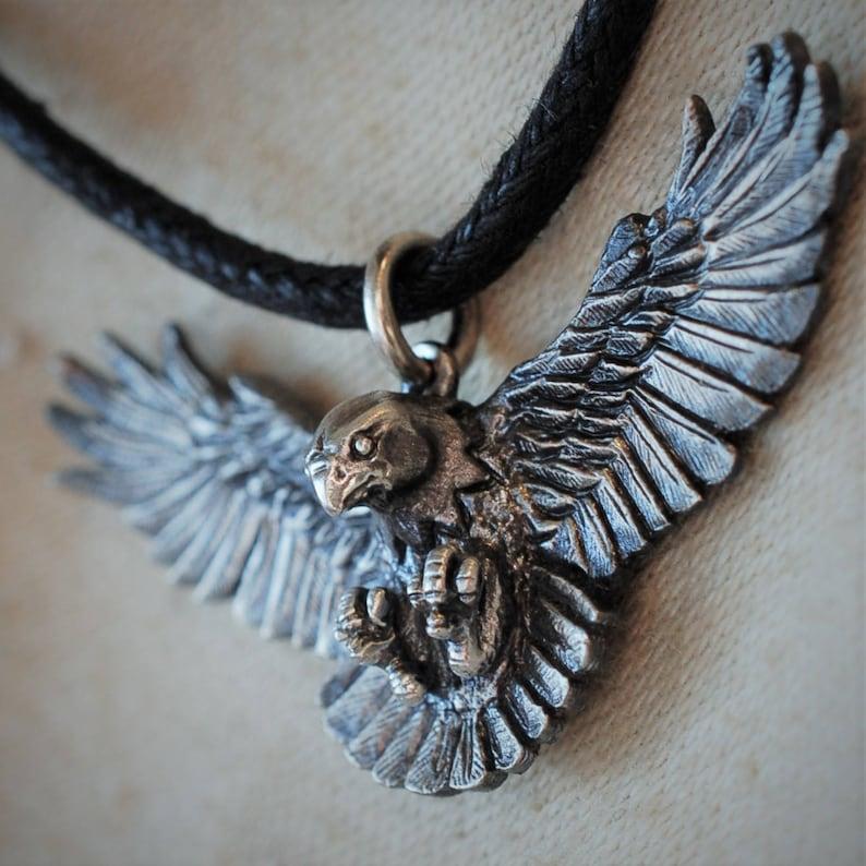 Bird of prey eagle necklace falcon necklace raptor image 0