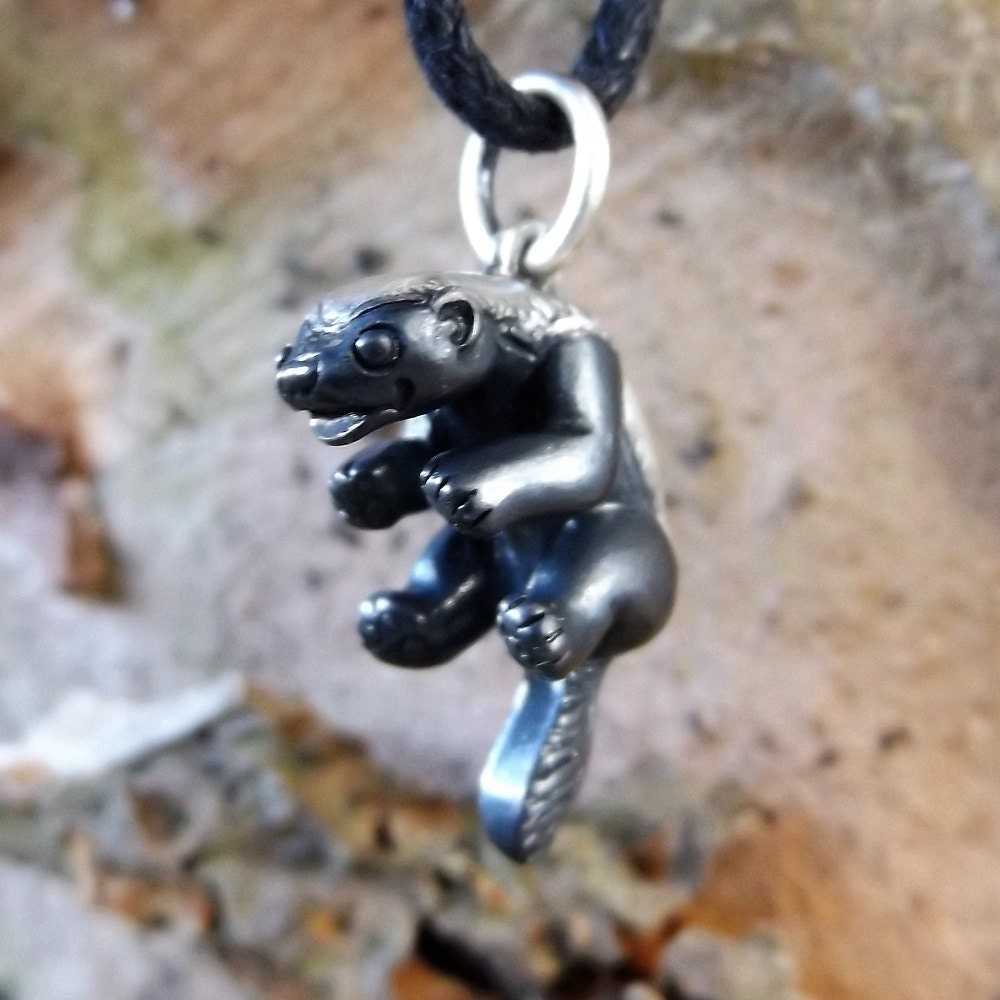 Badger Rib Pendant Necklace