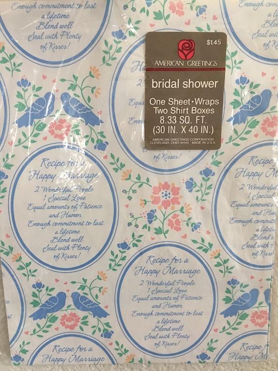Jahrgang OVP Rezept für A glückliche Ehe Verpackung Papier | Etsy