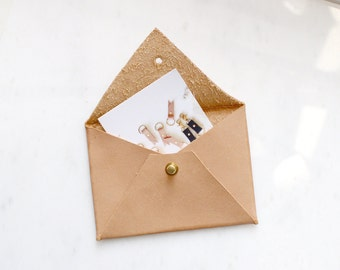 Veg Tanned Leather Envelope Pouch