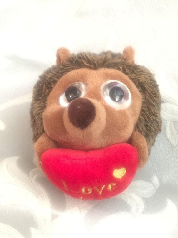 Vintage Keel Toys Hedgehog Plush Soft Toy Quote Love You Etsy