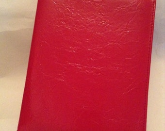 Vintage Bright Red Organiser, Office Supplies, Diary