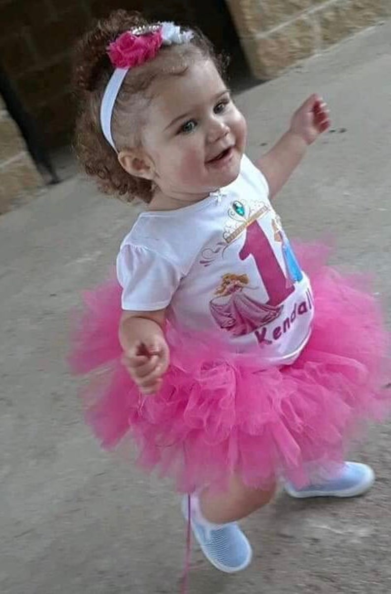 1c27dc13f Pink Disney Princess Tutu Outfit, First Birthday outfit, D Trim tutu set,  Disney, Princess ,Tutu, Costumes