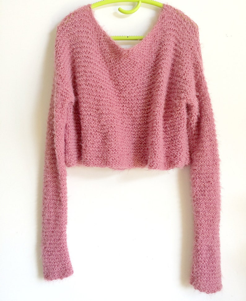676dfa67e4 Sweater Mohair Oversize Sweater Off the shoulders crop top
