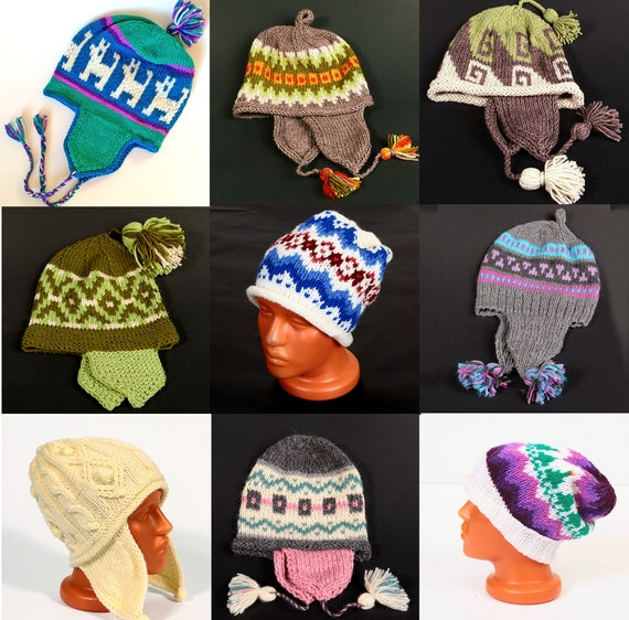 47bb2ef3d59 Chullo hat Knitted hat Chullo Traditional Bolivian Andean