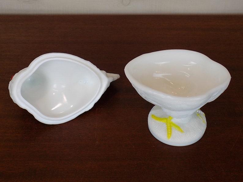 Vintage Milk Glass Rooster Dish