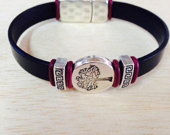 Leather Tree of Life Bracelet