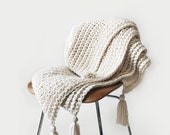 CROCHET PATTERN Blanket, Afghan Chunky Texture The Tabasse Throw