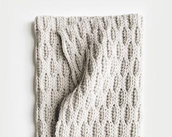 CROCHET PATTERN ⨯ Blanket, Afghan ⨯ Chunky Texture ⨯ The Zanmann Throw