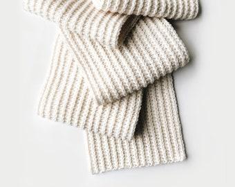 CROCHET PATTERN ⨯ Ribbed scarf, extra long ⨯ The Krèt