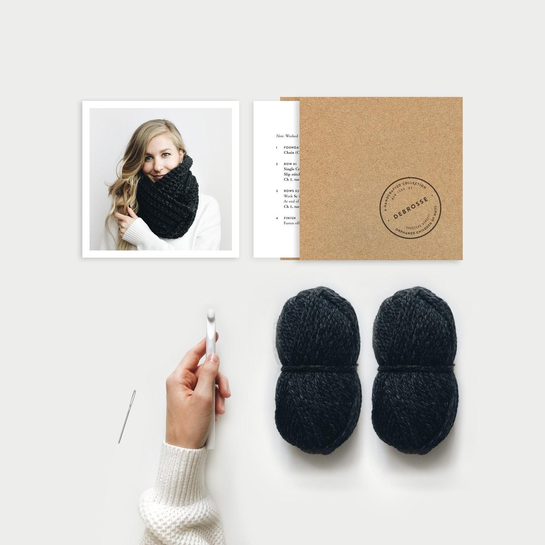 8e07a5cc1a6 DIY KIT Crochet Infinity Scarf Chunky The Léogâne 4