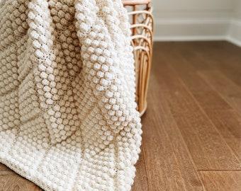 CROCHET PATTERN ⨯ Bobble Throw, Afghan ⨯ The Dyaman Blanket