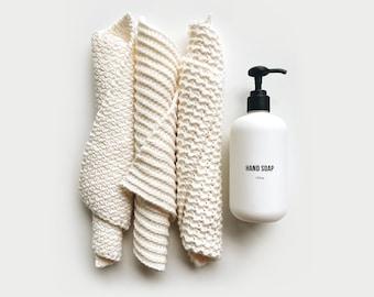 CROCHET PATTERN ⨯ Washcloths, kitchen decor, bathroom decor ⨯ The Savon Set