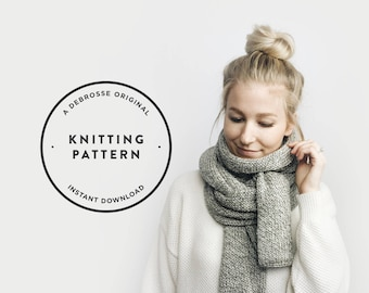 KNITTING PATTERN ⨯ Classic, Long Open-Ended Scarf ⨯ The Grand-Goâve