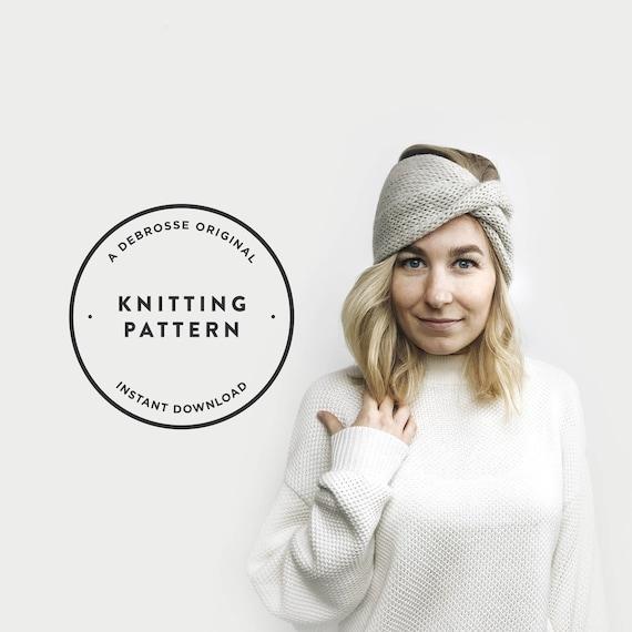 Knitting Pattern Turban Headband The Roseaux Etsy