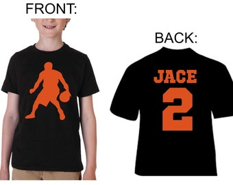 personalized basketball shirt-custom basketball jersey-basketball name and  number-youth basketball- toddler basketball birthday party abce8cc54