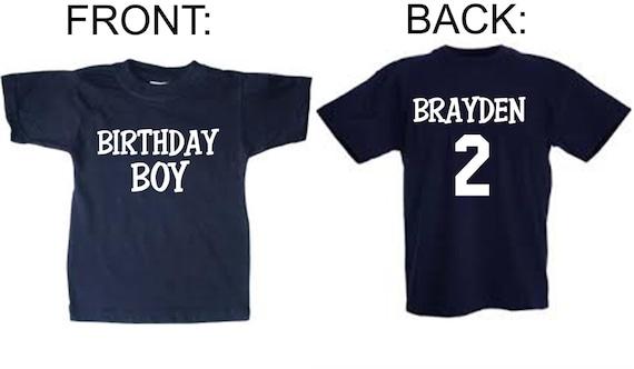 Personalized Birthday Boy Shirts