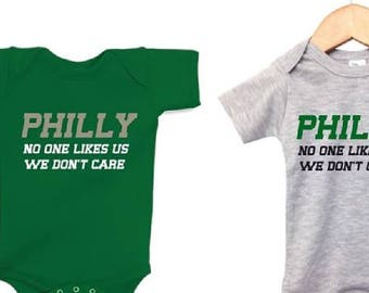 No one likes us, we're from philly, jason kelce, philadelphia baby, infant philadelphia, philly philly, toddler philadelphia, funny philly